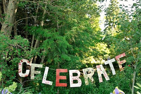 DIY Celebrate Sign