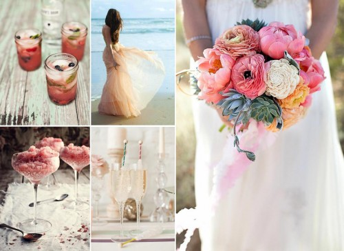 pretty pink wedding details