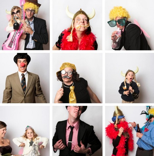 photobooth at a fall southern mountain wedding