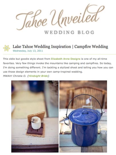 Tahoe Weddings Unveiled Camp Inspiration