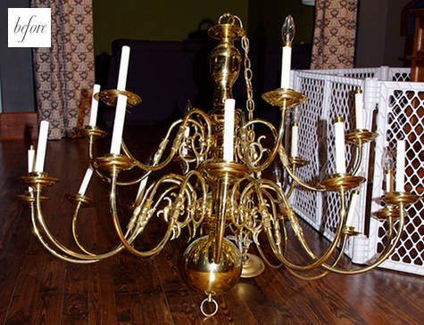 chandelier before up-cycle