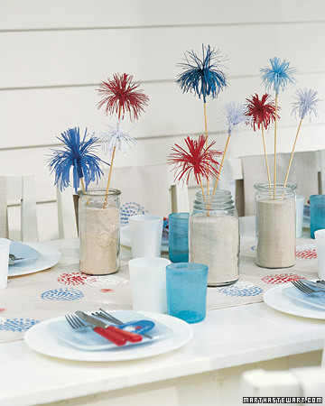 easy DIY decor for the fourth of july