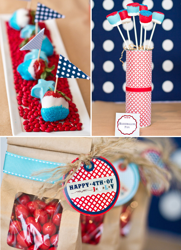 red white and blue decor for fourth of july weddings