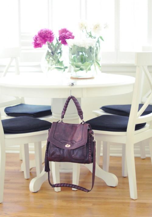 Mon Mode Purse Hanger at Kitchen Table