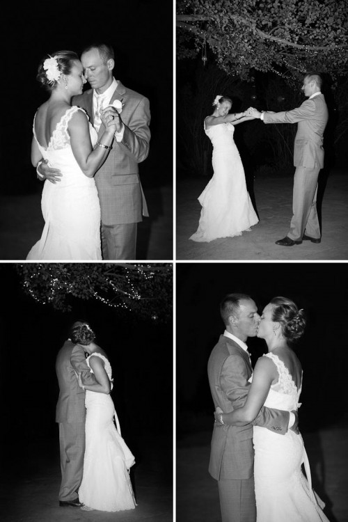 black and white of first wedding dance