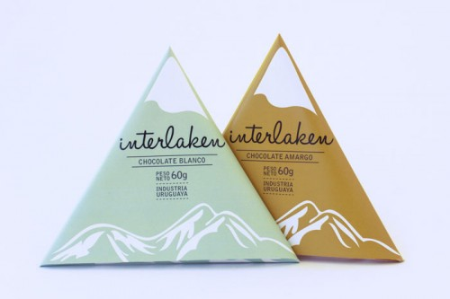 Mountain shaped chocolates
