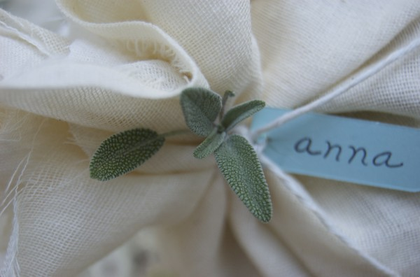 cheesecloth wrapped almond favors