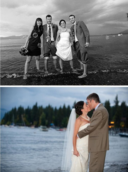 Beautiful Autumn Lake Tahoe Mountain Wedding