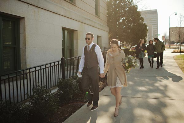 Elopement in Asheville courthouse