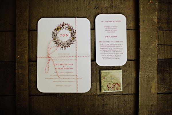Wedding Invitation for Asheville elopment