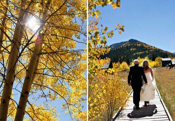 fall wedding in Aspen Colorado