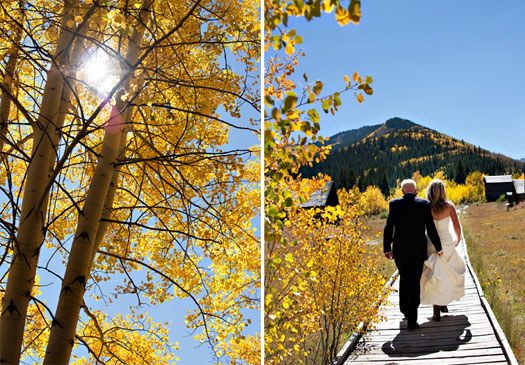 fall wedding in Aspen Colorado