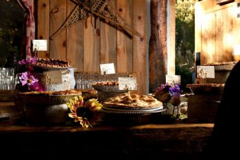 rustic dessert table in Aspen Colorado Wedding