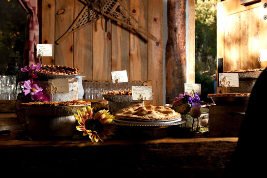 rustic dessert table in Aspen Colorado Wedding