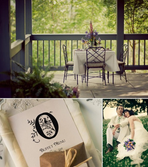 Wedding monogram details