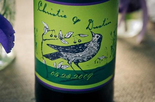 DIY wedding wine label