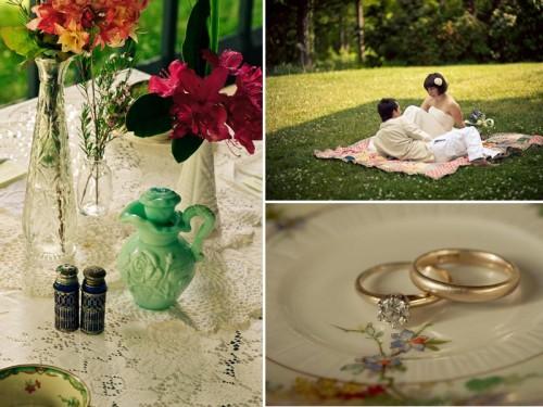 wedding picnic at tthe NC arboretum