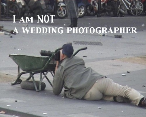 not a wedding photographer