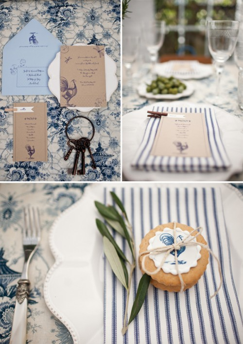 french country inspiration blue pinstripes and cheese