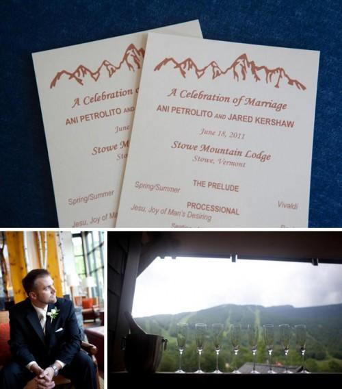 Vermont mountain wedding invitations