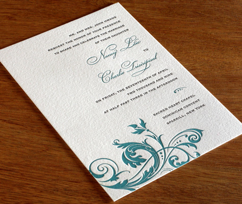 Fleur Ajalon wedding Invitations