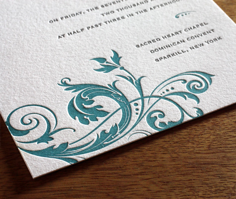 Fleur Ajalon wedding Invitation closeup
