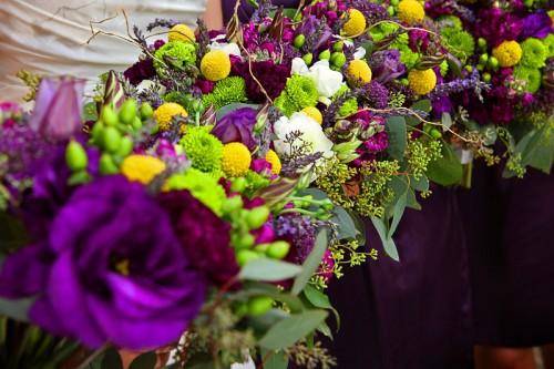 purple colorado wedding flowers