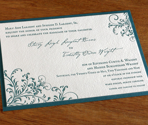 Kira Ajalon wedding Invitation
