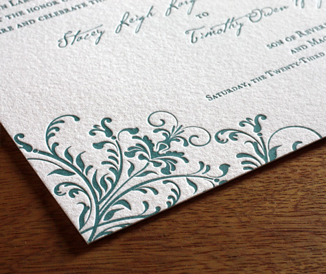 Kira Ajalon wedding Invitation closeup