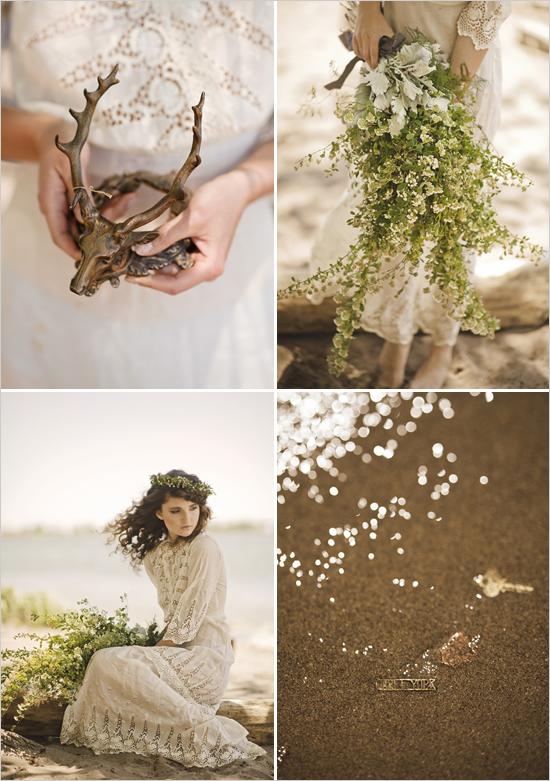 vintage wedding dress for a woodland wedding