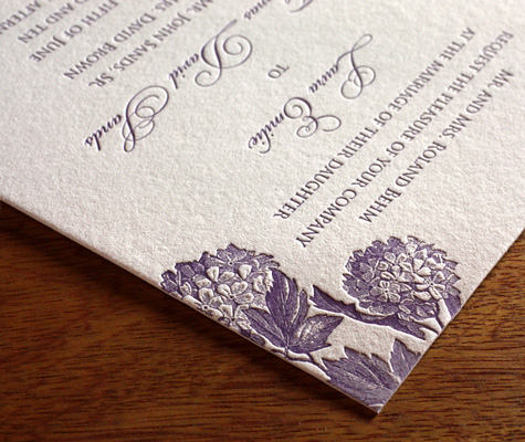 Laura Ajalon wedding Invitation closeup