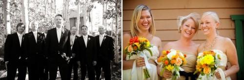 Bridal party at a Convict Lake Wedding