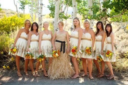 Bride with Bridesmaids at Convict Lake