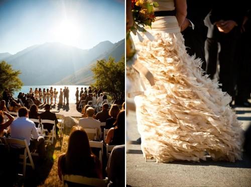 gorgeous wedding views at Convict Lake