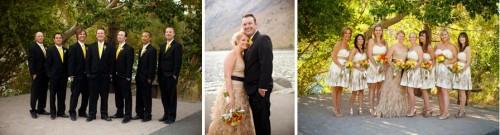 Bridal portraits at Convict Lake