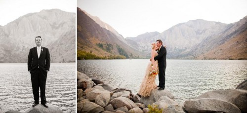 Bride and Groom on Convict Lake