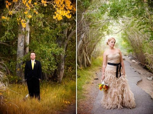woodland bridal portraits