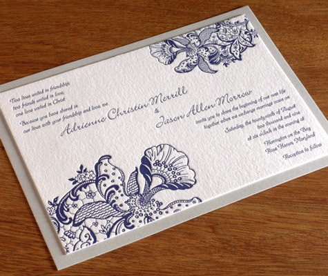 Orchid Ajalon wedding Invitation