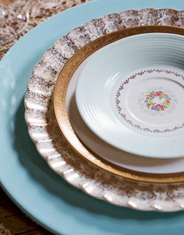 vintage mix and match china