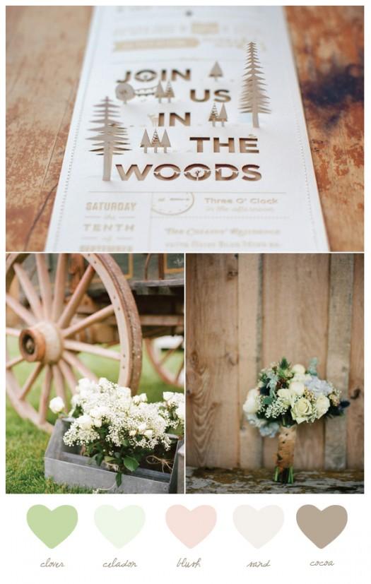 pretty rustic wedding details