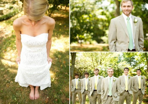 DIY Asheville Wedding barefoot bride