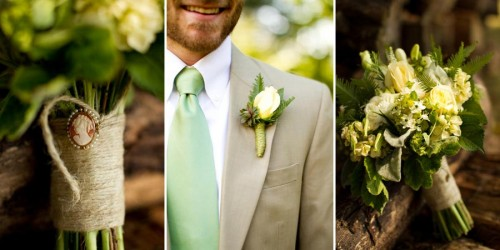 DIY Asheville Wedding bouquet and boutonniere