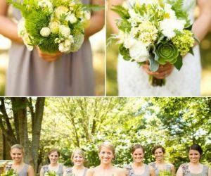 DIY Asheville Wedding bouquets