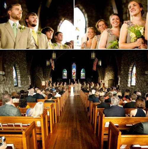 DIY Asheville Wedding Grace Church Ceremony