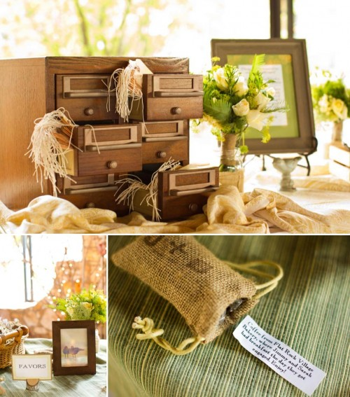 DIY Asheville Wedding card catalog details