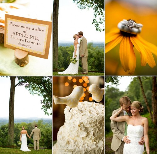 DIY Asheville Wedding signs, cake, and rings