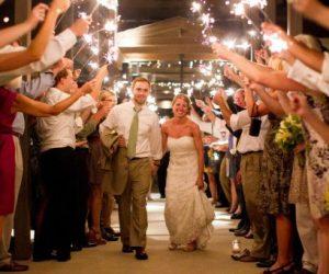 DIY Asheville Wedding sparklers