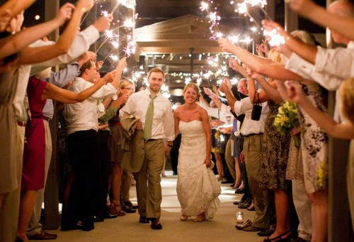 DIY Asheville Wedding sparklers