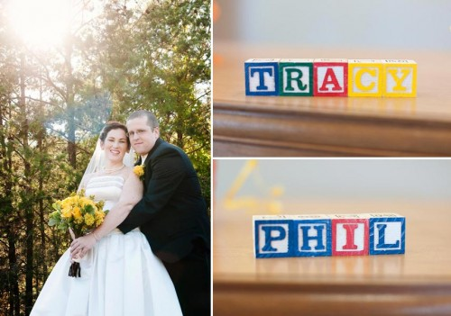 Bridal Portraits with lettered blocks