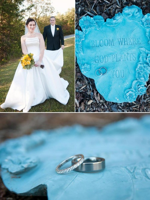 custom blue wedding ring holder